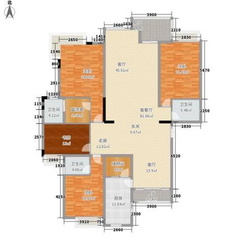 新世纪可居4室1厅3卫1厨224.00㎡户型图