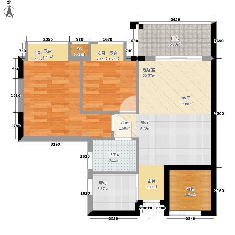 海伦堡御院65.06㎡12座1梯标准层面积6506m户型