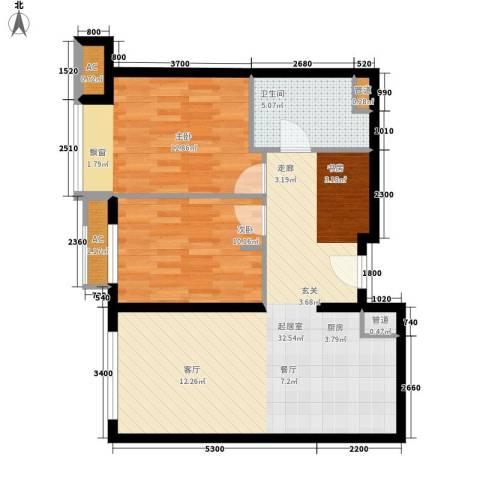 大西洋新城G区2室0厅1卫0厨90.00㎡户型图