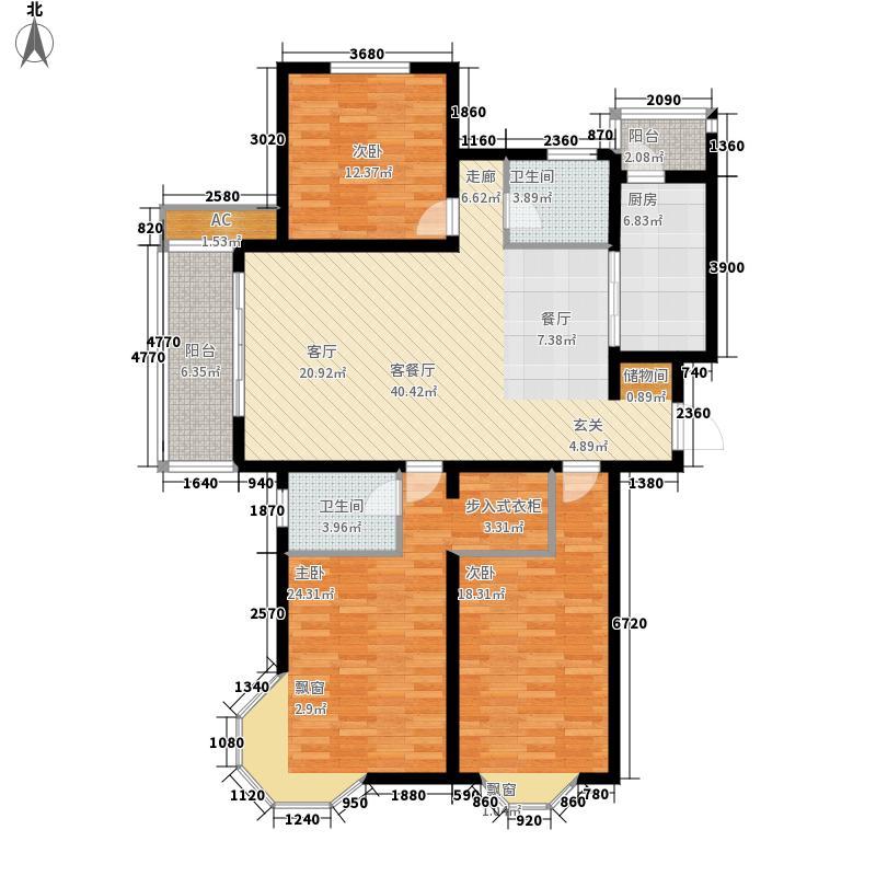 绿地崴廉公寓131.00㎡E10面积13100m户型