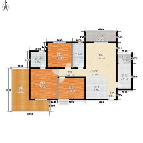 城市风景都市印象3室0厅2卫1厨169.00㎡户型图