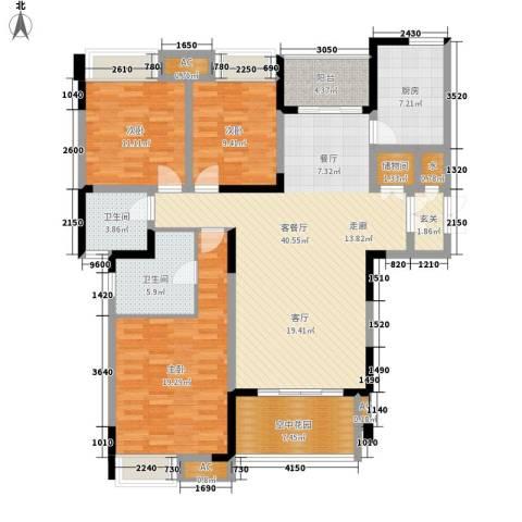 英郡3室1厅2卫1厨145.00㎡户型图