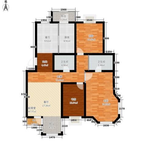 第六大道第博雅园3室0厅2卫1厨142.00㎡户型图
