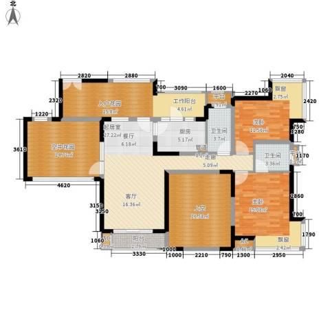国税宿舍2室0厅2卫1厨147.00㎡户型图