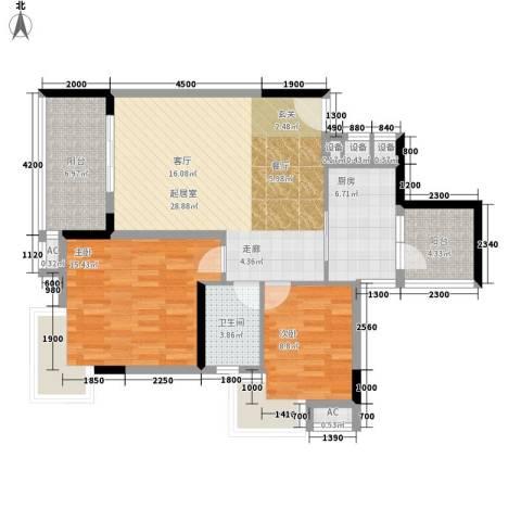 雅郡花园2室0厅1卫1厨90.00㎡户型图