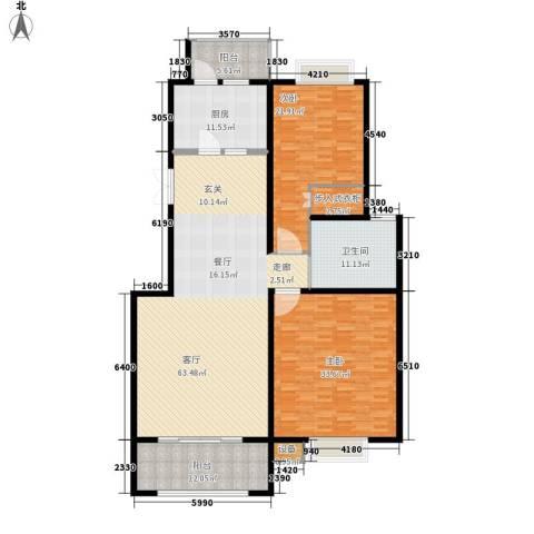 独墅苑2室1厅1卫1厨180.00㎡户型图