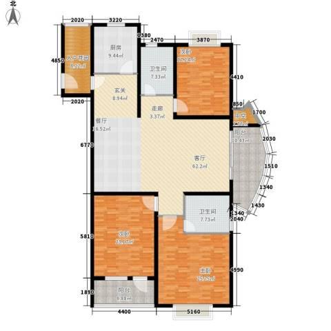 独墅苑3室1厅2卫1厨200.00㎡户型图
