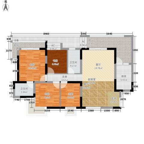 大朗怡景花园4室0厅2卫1厨118.00㎡户型图