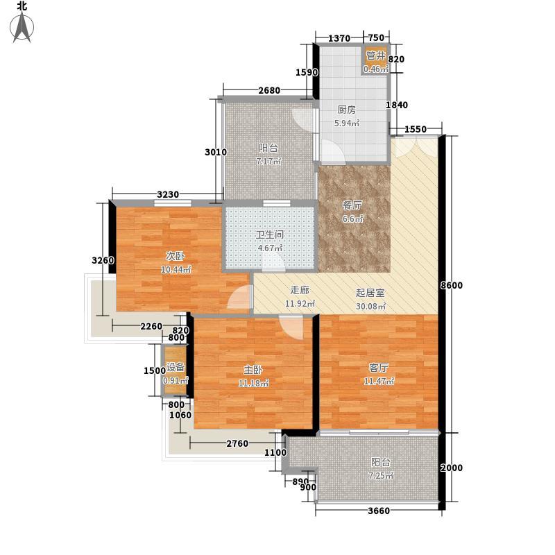 东方新世界86.28㎡7座2-24层4单面积8628m户型