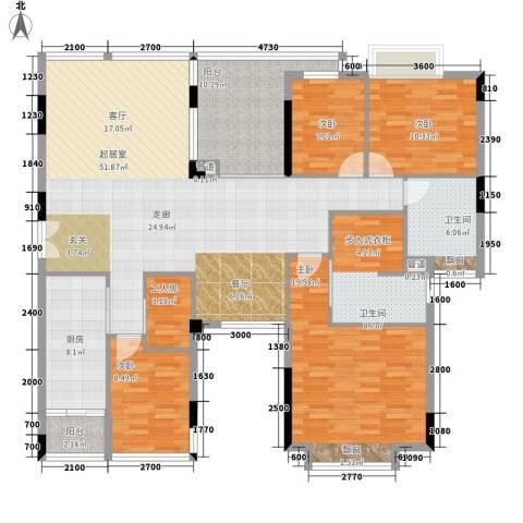 雅郡花园4室0厅2卫1厨190.00㎡户型图