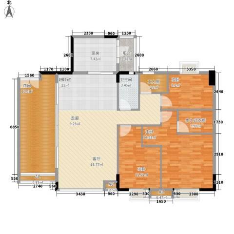 喜盈雅境3室0厅1卫1厨143.00㎡户型图