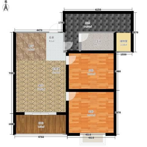 大话南门项目2室0厅1卫1厨97.00㎡户型图