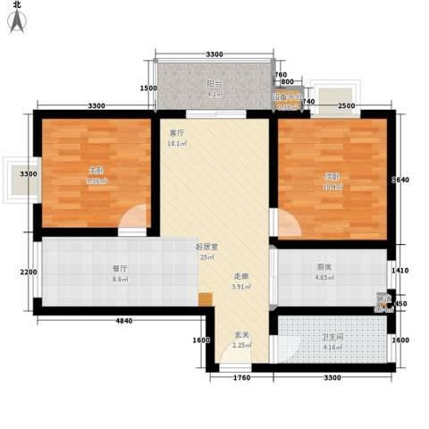 金源都市公寓2室0厅1卫1厨92.00㎡户型图