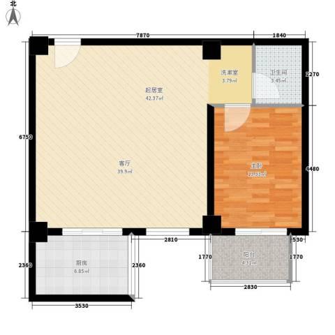 蒲公英国际广场1室0厅1卫1厨78.83㎡户型图