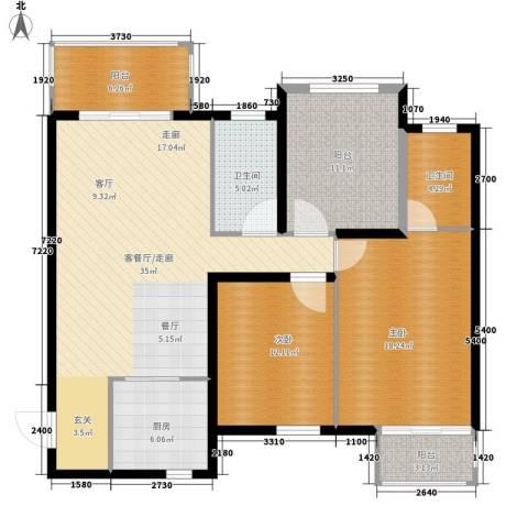 听城2室0厅2卫1厨112.00㎡户型图