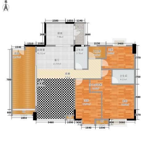 喜盈雅境3室0厅2卫1厨172.00㎡户型图
