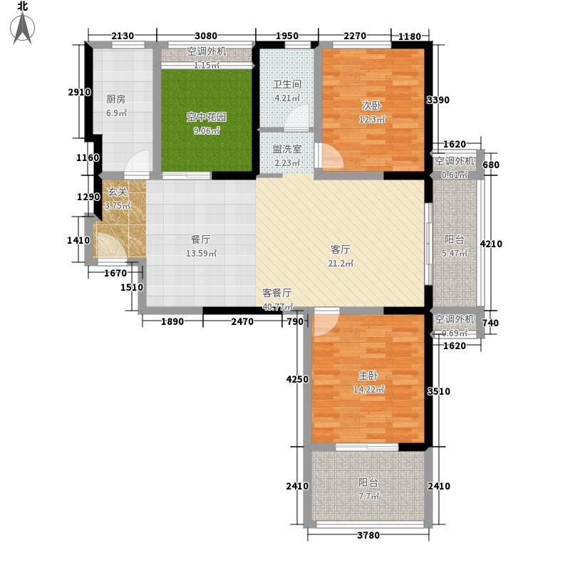 皖都徽韵119.00㎡15、16#楼边套2+户型3室2厅