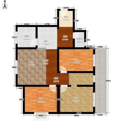 安驰国际3室1厅1卫1厨154.00㎡户型图
