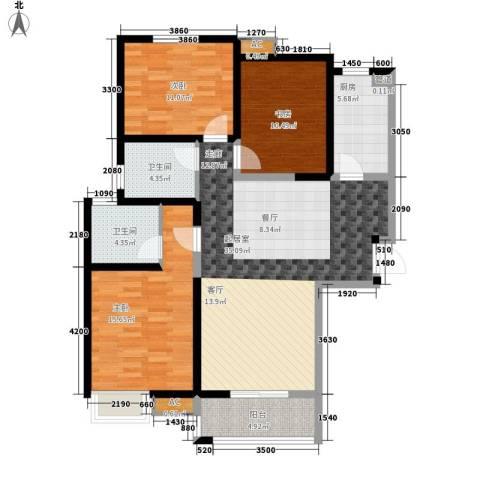 欣景苑3室0厅2卫1厨110.00㎡户型图