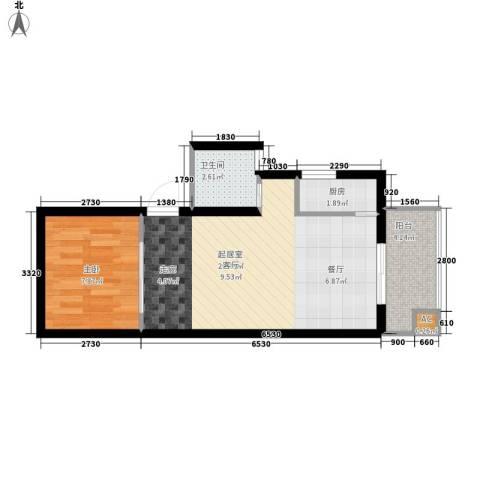 怡兴大厦1室0厅1卫1厨56.00㎡户型图