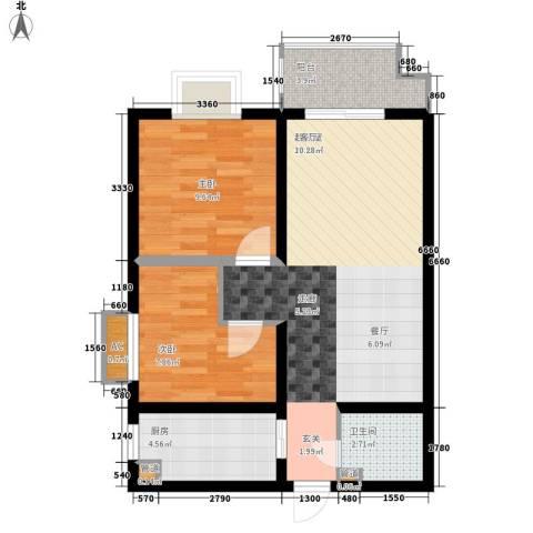 怡兴大厦2室0厅1卫1厨81.00㎡户型图