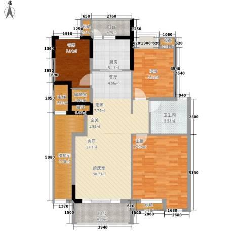 绿色时光3室0厅1卫1厨99.00㎡户型图