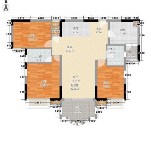 云山熹景3室0厅2卫1厨131.00㎡户型图