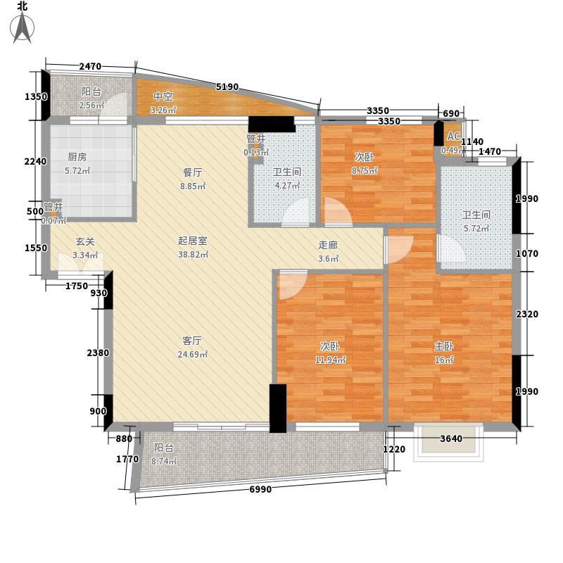 珠江花城120.00㎡3、5、7栋面积12000m户型