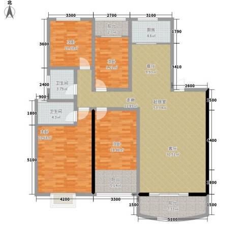 和景园4室0厅2卫1厨178.00㎡户型图