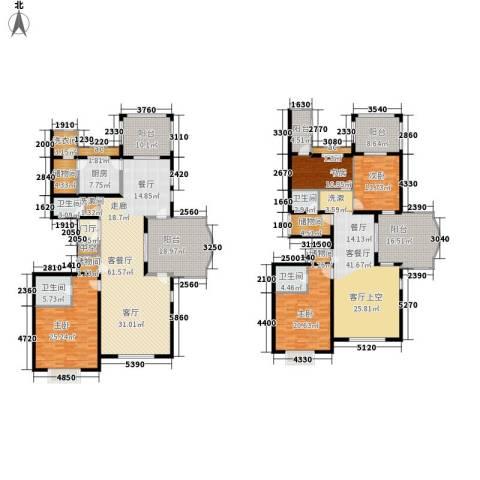 龙熙半岛4室2厅4卫1厨392.00㎡户型图