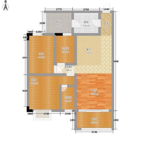 骏辉雅苑2室0厅2卫1厨83.00㎡户型图