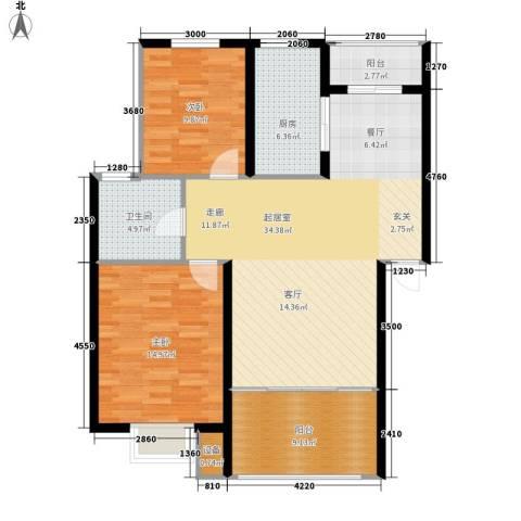 胥口新村2室0厅1卫1厨93.00㎡户型图