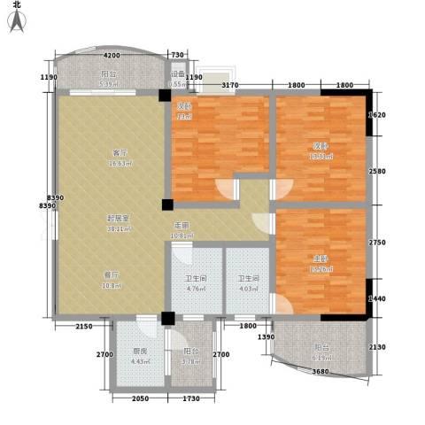 和景园3室0厅2卫1厨144.00㎡户型图