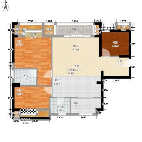 厚街虹桥住宅3室0厅2卫1厨118.00㎡户型图