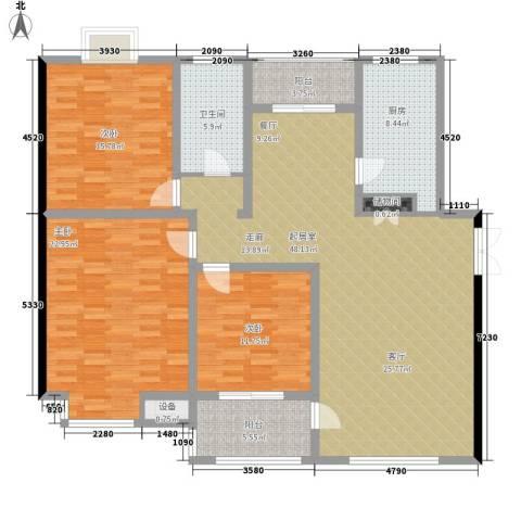 和景园3室0厅1卫1厨144.00㎡户型图