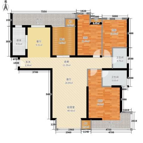 夏日景色3室0厅2卫1厨143.00㎡户型图