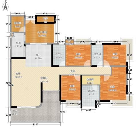 富力天河华庭4室1厅3卫1厨185.00㎡户型图