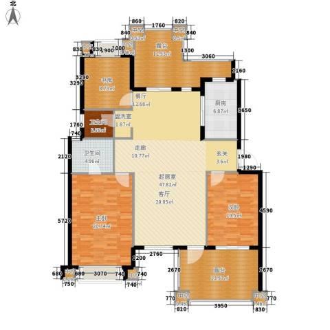 绿色时光3室0厅2卫1厨150.00㎡户型图