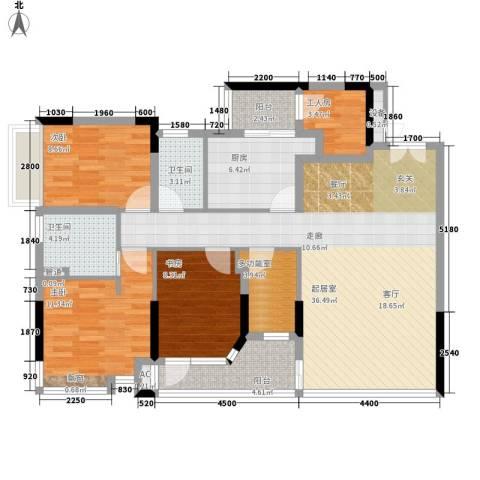 雅郡花园3室0厅2卫1厨114.00㎡户型图