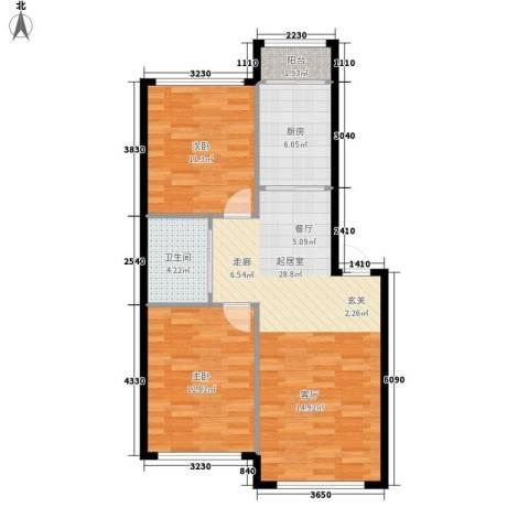 丽湖花园2室0厅1卫1厨89.00㎡户型图