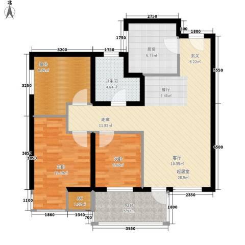 夏日景色2室0厅1卫1厨91.00㎡户型图