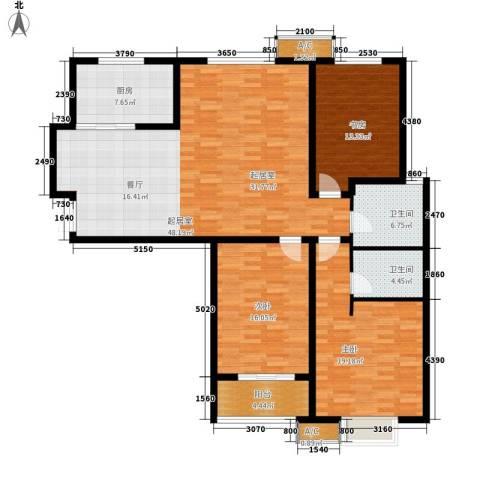 铂宫时代3室0厅2卫1厨171.00㎡户型图