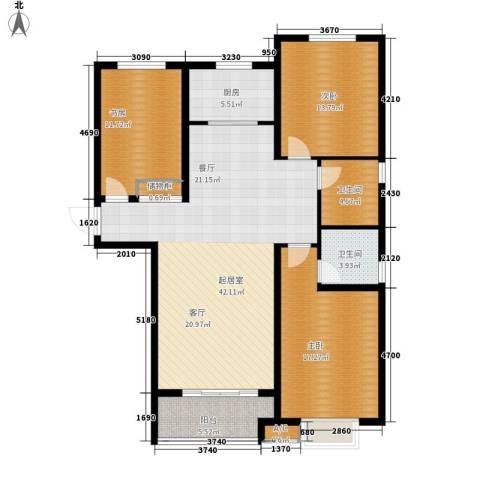 铂宫时代3室0厅2卫1厨149.00㎡户型图