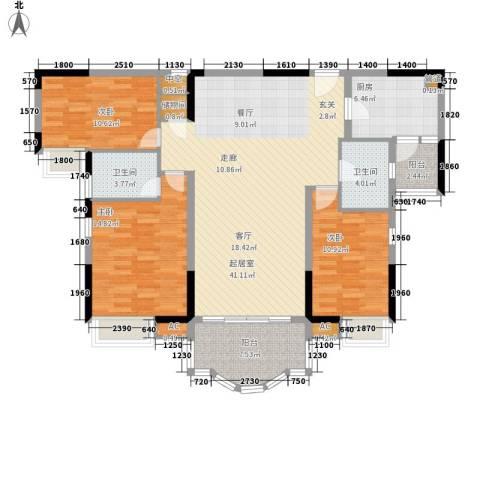 云山熹景3室0厅2卫1厨118.00㎡户型图