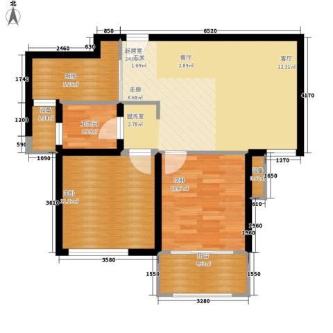 馨乐花园2室0厅1卫1厨88.00㎡户型图