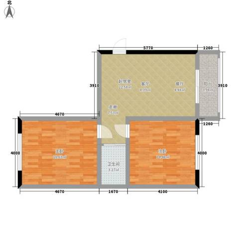 红苹果家园2室0厅1卫0厨70.00㎡户型图