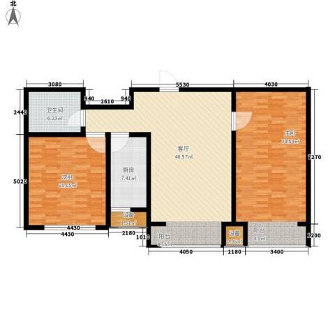 滨旅煦园2室1厅1卫1厨107.29㎡户型图