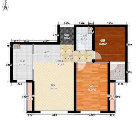 维多利亚时代2室0厅1卫1厨98.00㎡户型图