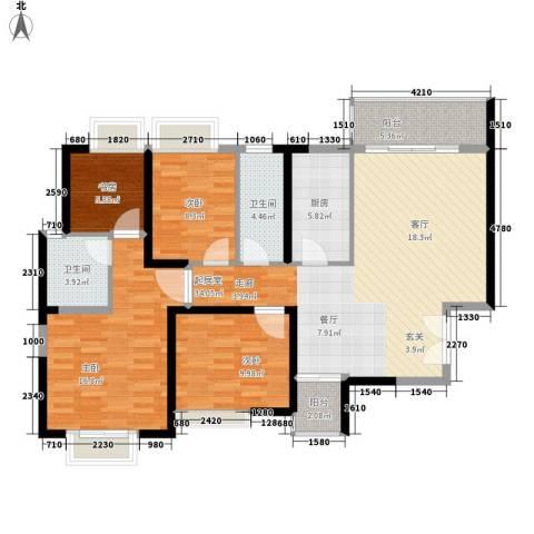 恒大名都4室0厅2卫1厨133.00㎡户型图