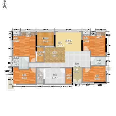 雅郡花园4室0厅2卫1厨143.00㎡户型图